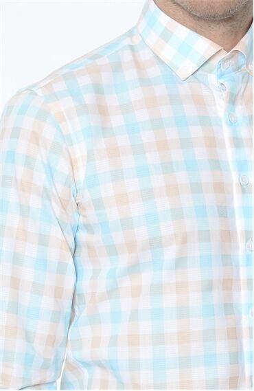 Ekose Turuncu Gömlek