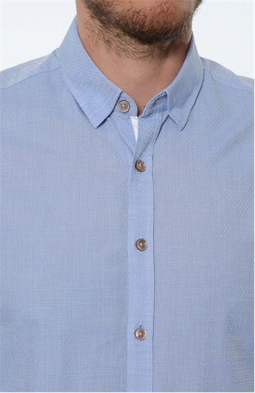 Desenli Mavi Gömlek