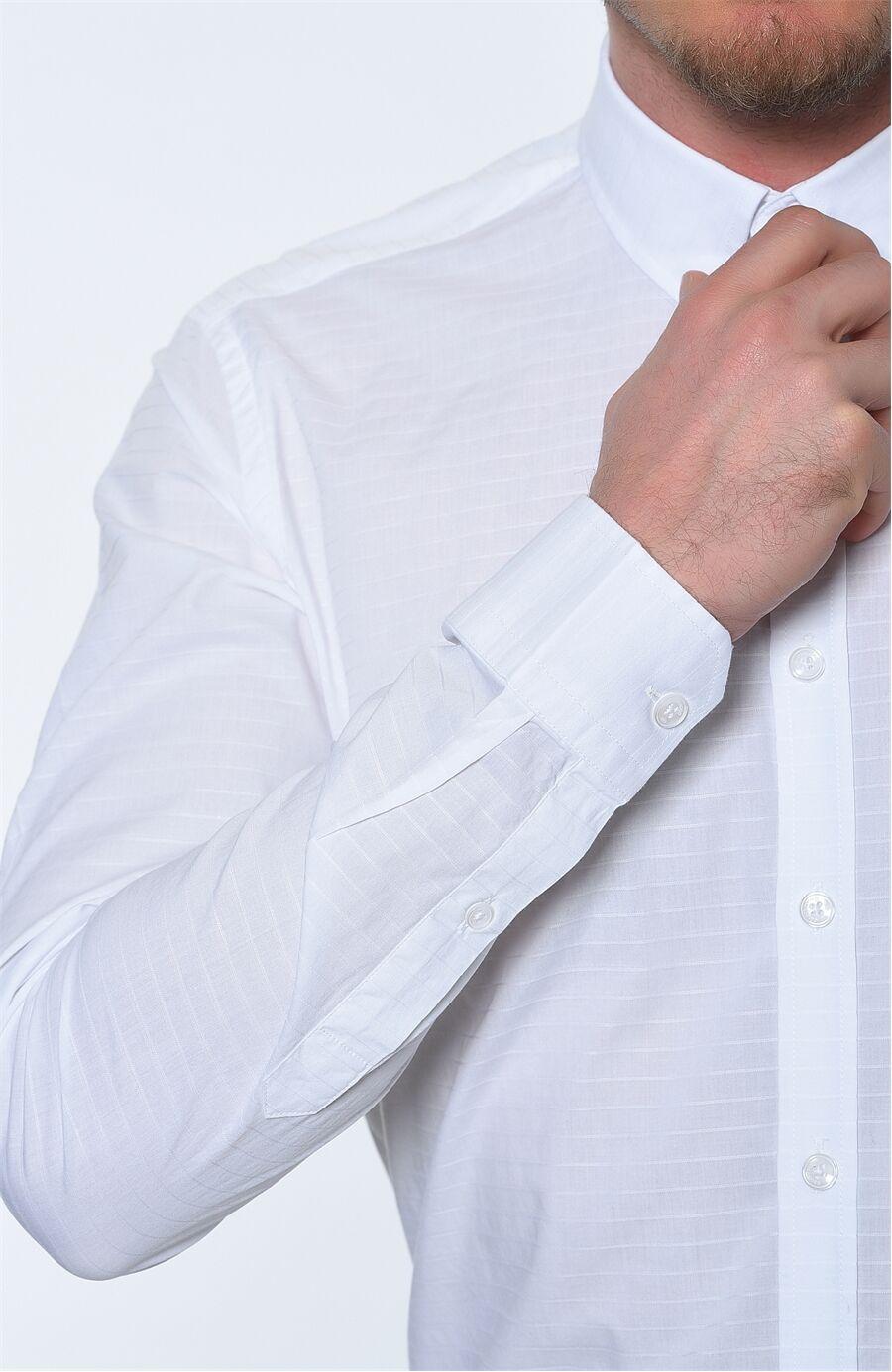 Çizgili Beyaz Gömlek