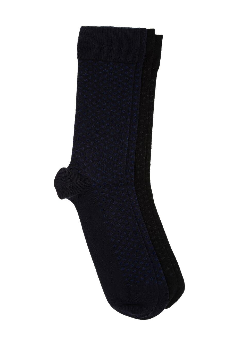 Bamboo Desenli Siyah 2'li Çorap Set