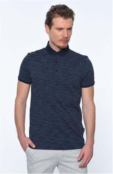 Polo Yaka Lacivert Tshirt