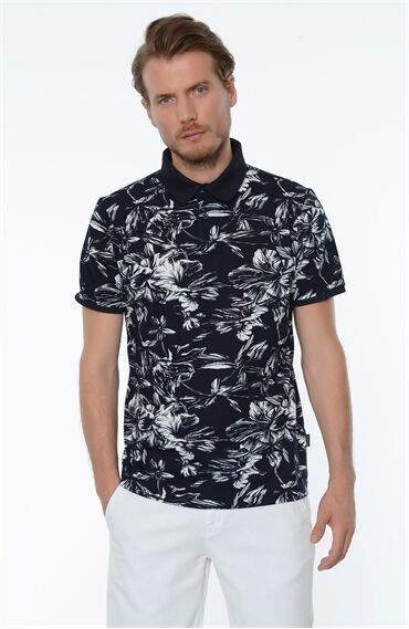 Baskılı Lacivert Tshirt
