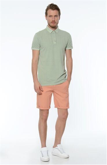 Polo Yaka Slım Fit Açık Yeşil Tshirt