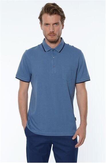 Polo Yaka Mavi Tshirt