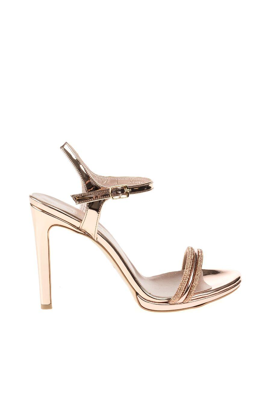 Rosegold Taşlı Sandalet