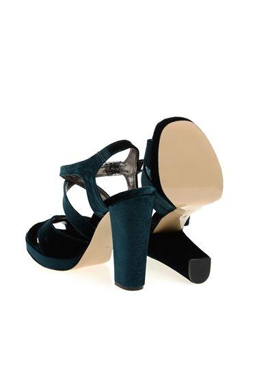 Yeşil Yüksek Topuklu Sandalet