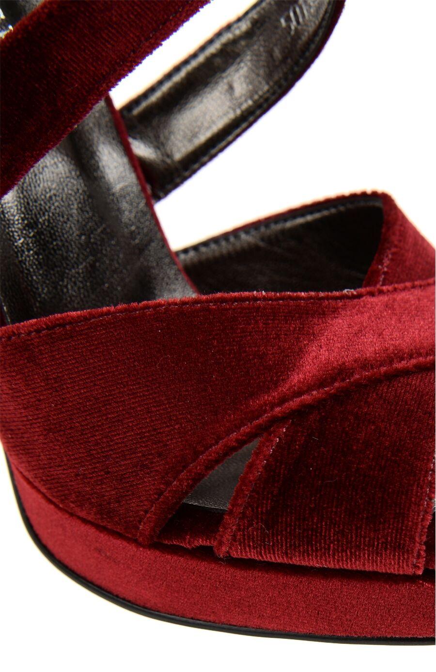 Bordo Yüksek Topuklu Sandalet