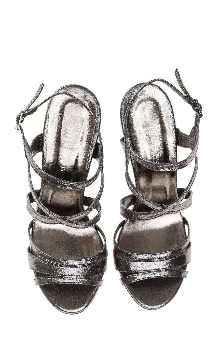 Bantlı Platin Sandalet