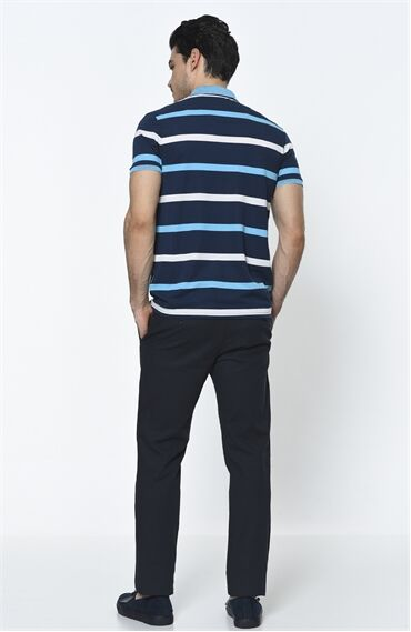 Petek Desenli Rahat Kesim Erkek Pantolon
