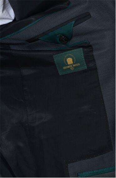 Desenli Siyah Takım Elbise