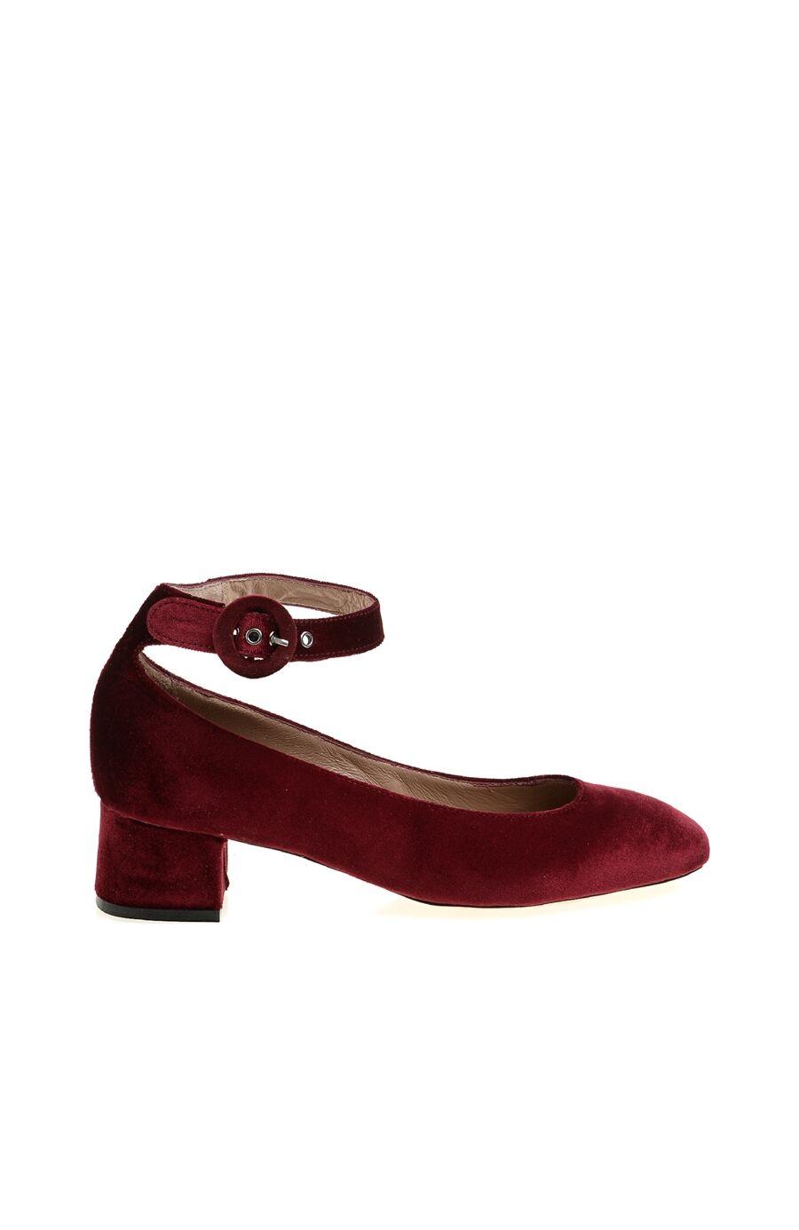 Bordo Kadife Ayakkabı