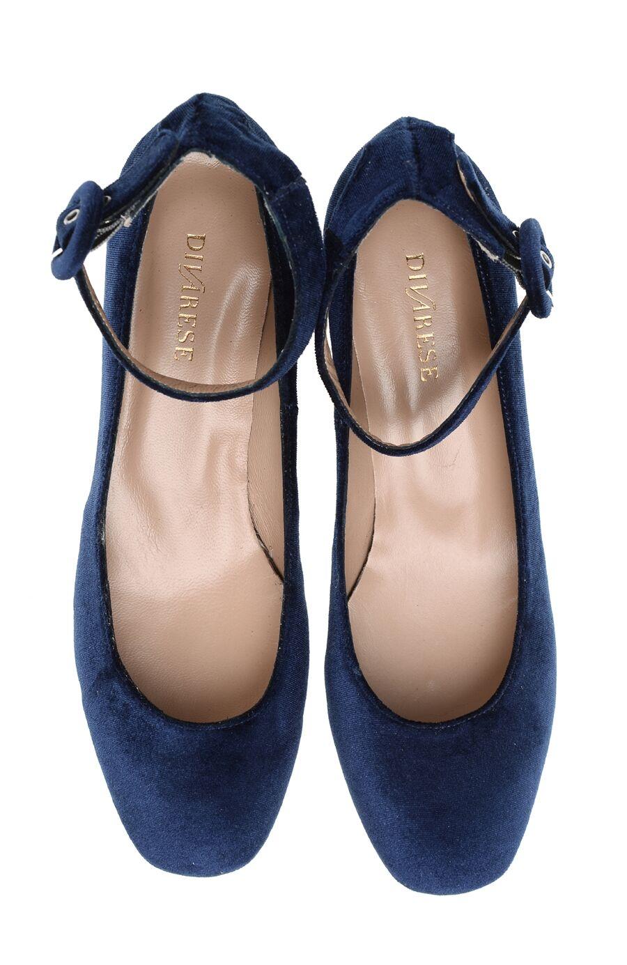 Lacivert Kadife Ayakkabı