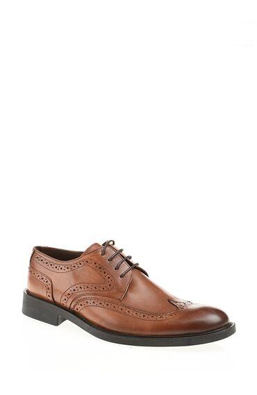 Zımba Desenli Taba Ayakkabı