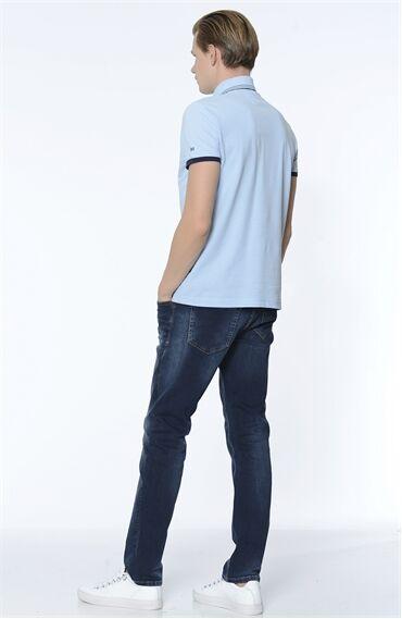 Slim Fit Lacivert Denım Pantolon