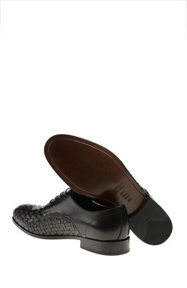 Örme Detaylı Siyah Ayakkabı