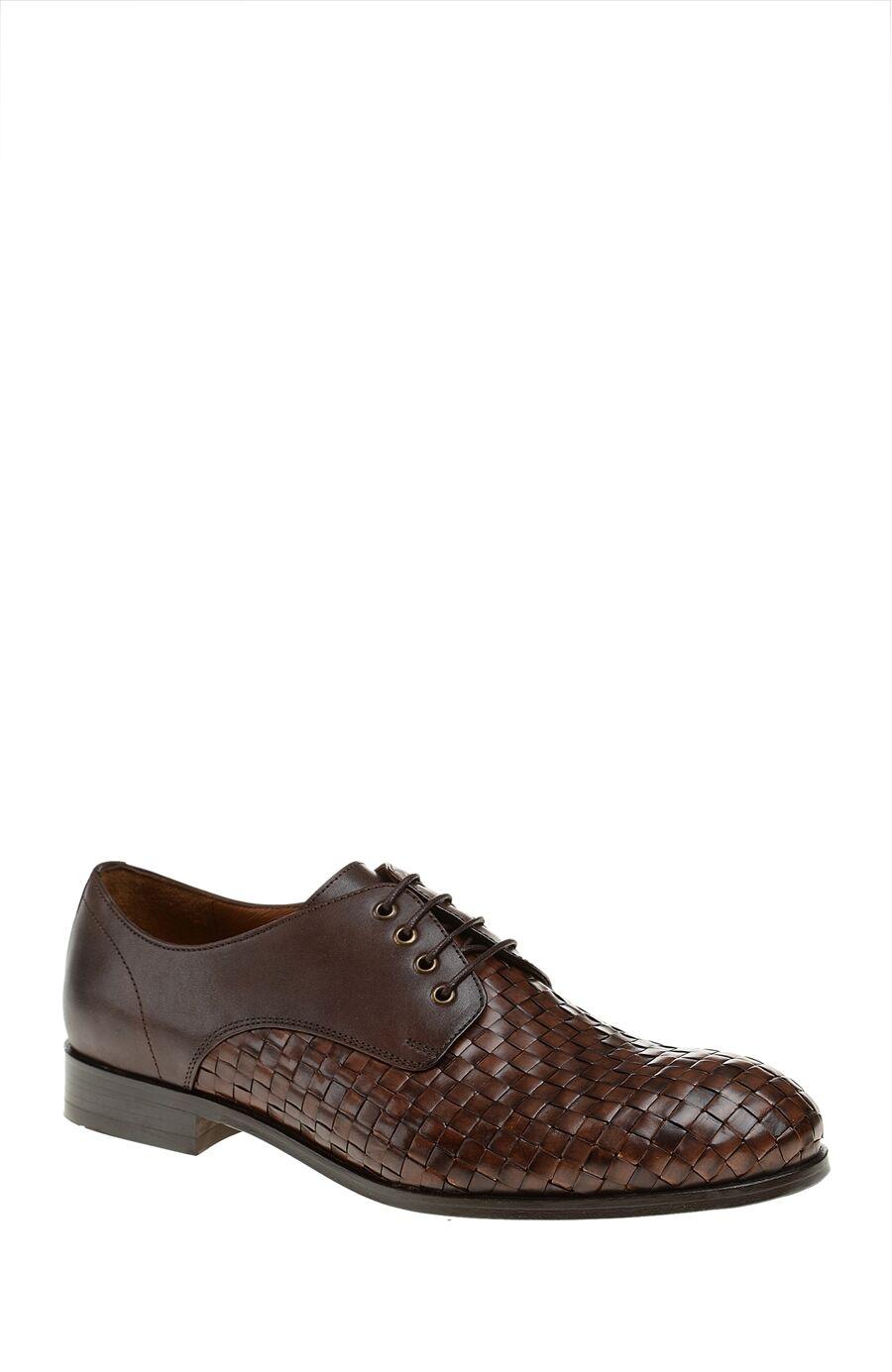Örme Detaylı Kahverengi Ayakkabı