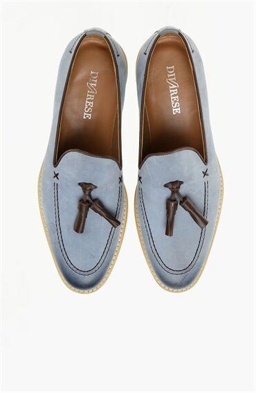 Nubuk Mavi Loafer