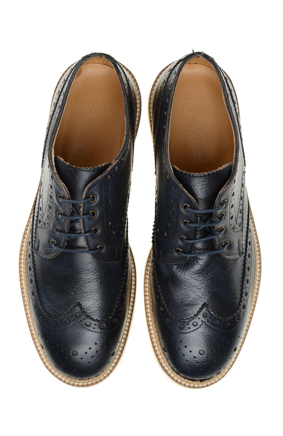 Zımba Desenli Lacivert Ayakkabı