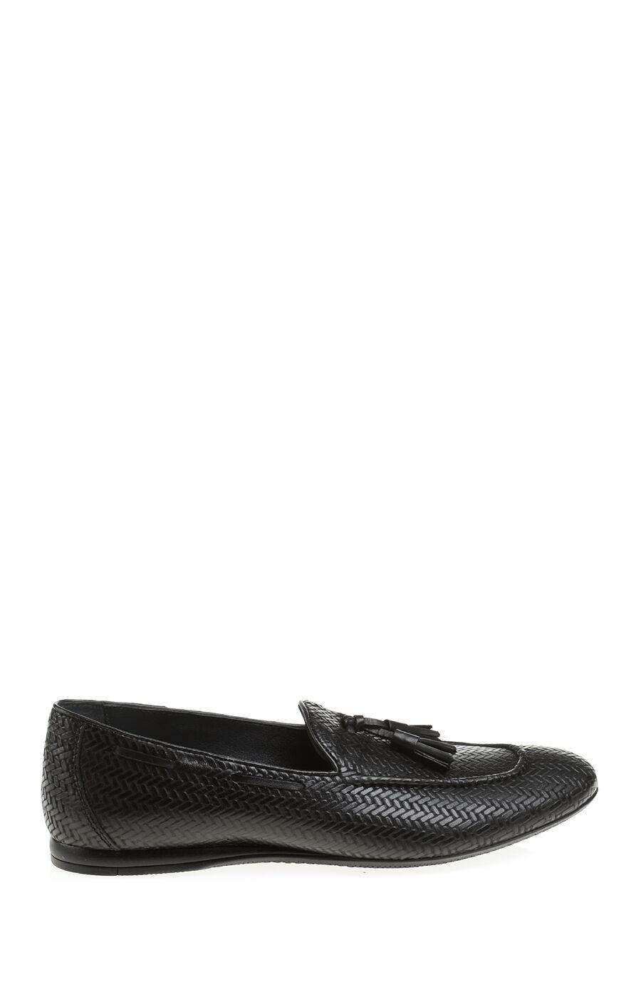 Siyah Deri Loafer