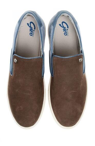 Vizon Rengi Giro Deri Sneaker