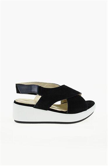 Lacivert Sandalet