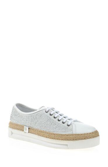 Taşlı Beyaz Ayakkabı