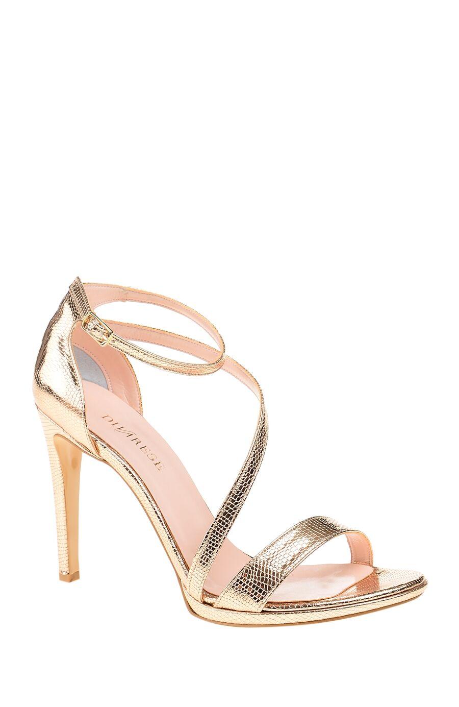 Dıvarese Platformlu Suni Deri Rose Gold Sandalet – 165.0 TL