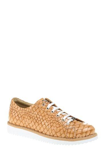 Krokodil Desenli Nude Sneaker