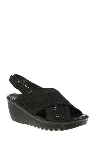 Delikli Siyah Sandalet