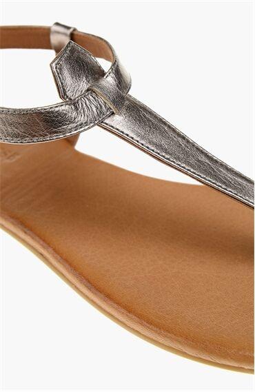 Kurşun Deri Sandalet