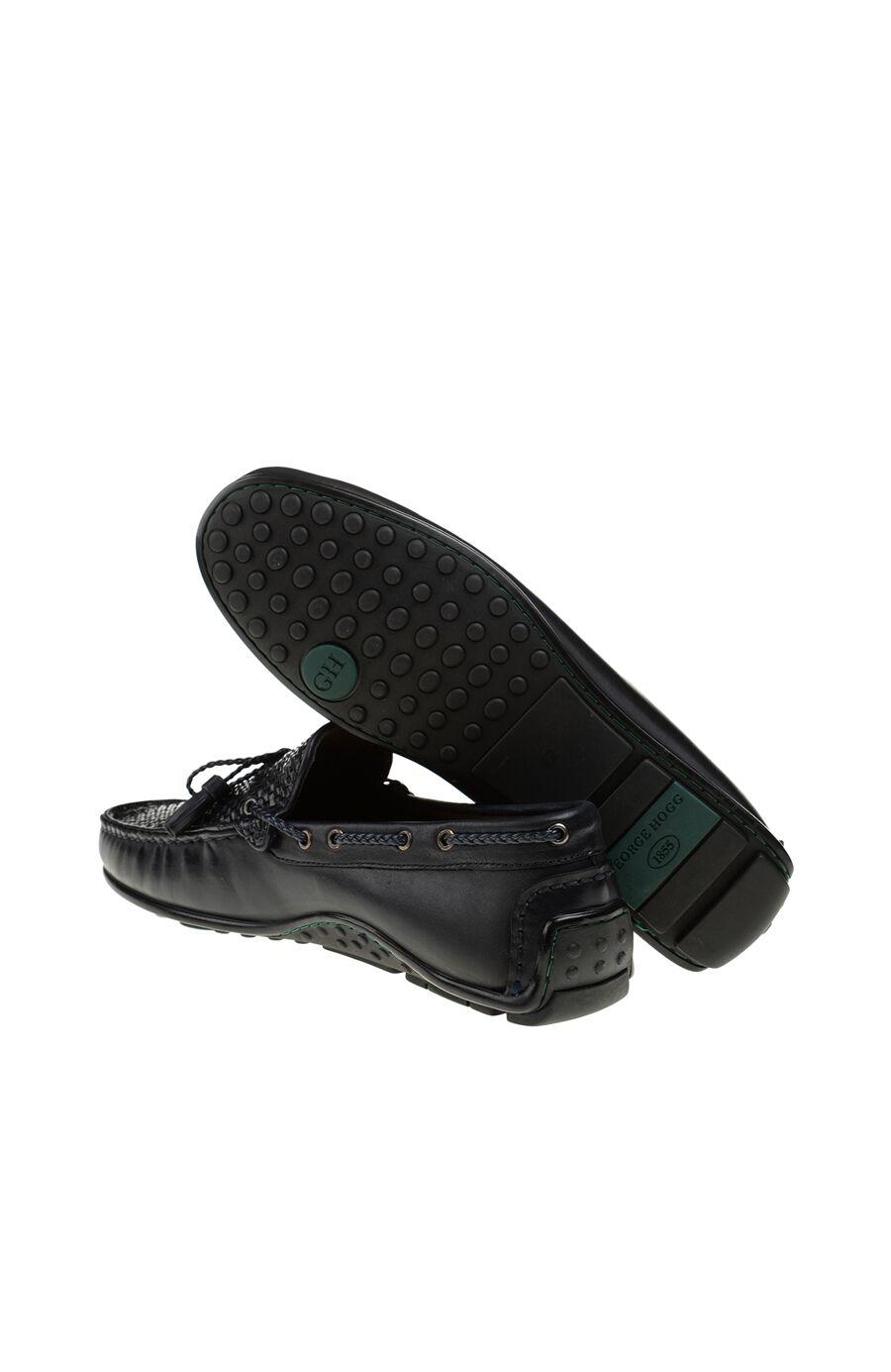 Örgü Detaylı Lacivert Loafer