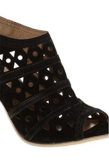 Siyah Süet Sandalet