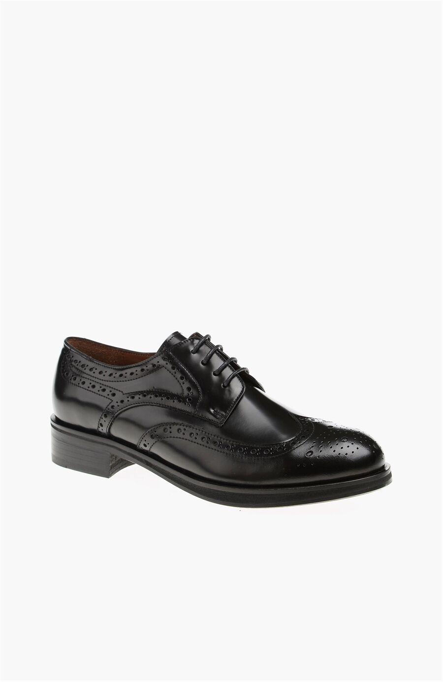 George Hogg Siyah Deri Ayakkabı