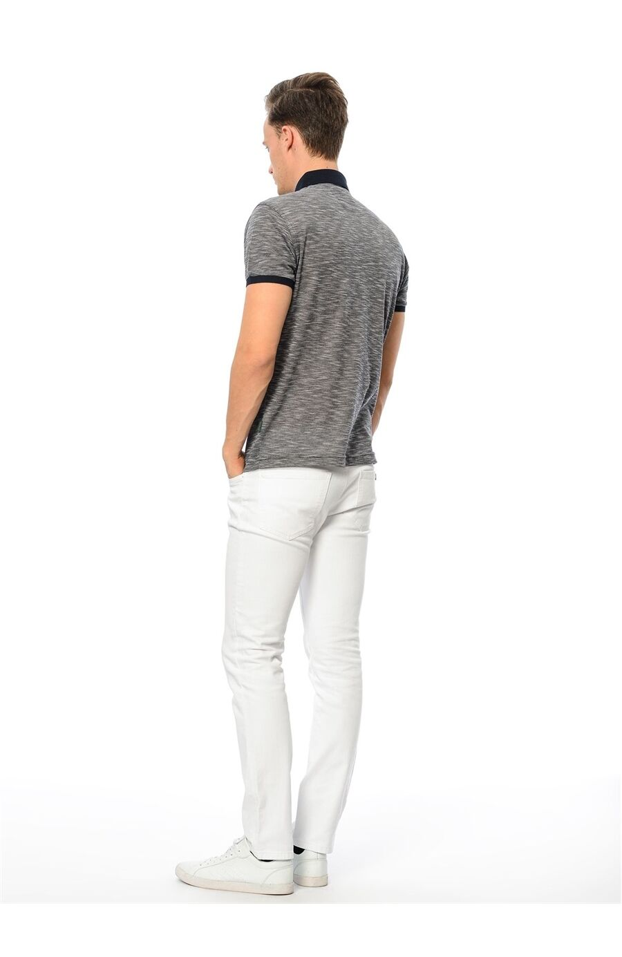 Polo Yaka Regular Fit Antrasit Tshirt
