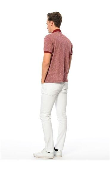 Polo Yaka Regular Fit Bordo Tshirt