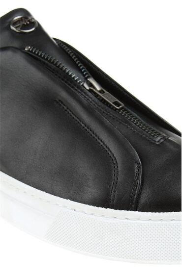 Platformlu Deri Siyah Sneaker