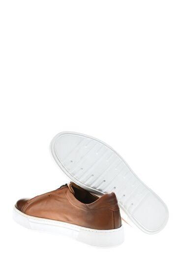 Platformlu Deri Taba Sneaker