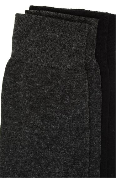 Bamboo Siyah Antrasit 2'li Çorap Set