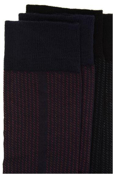 Bamboo Siyah Lacivert 2'li Çorap Set