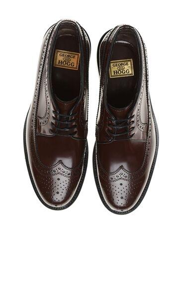 George Hogg Bordo Bağcıklı Deri Ayakkabı