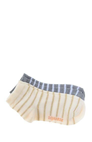 2 Li Çizgili Çorap Seti