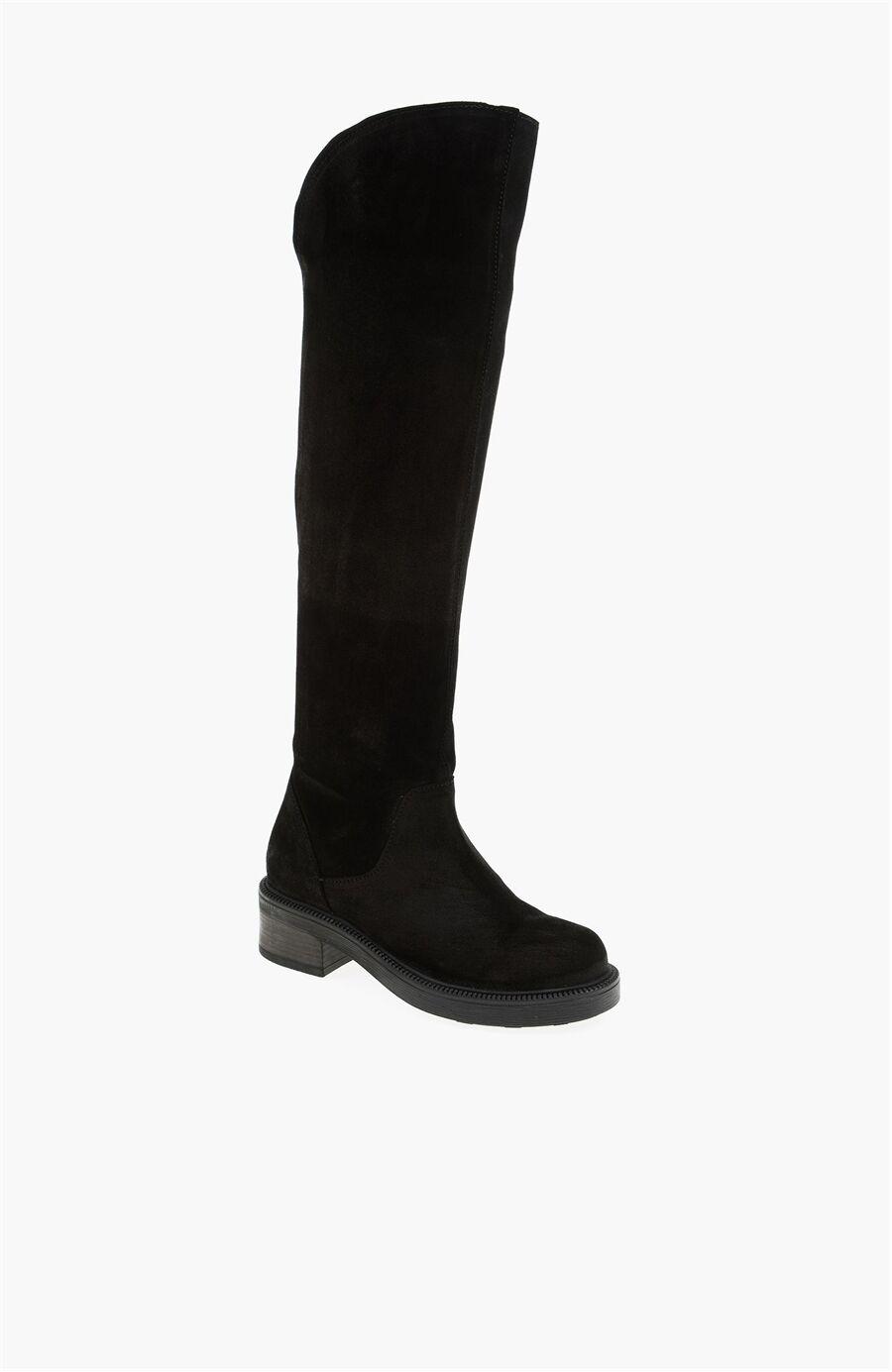 Dıvarese Süet Siyah Çizme – 275.0 TL