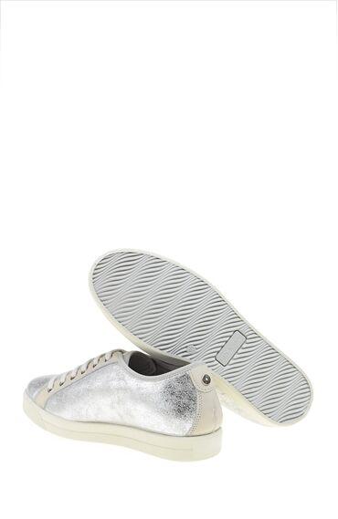 Trok Detaylı Gümüş Ayakkabı
