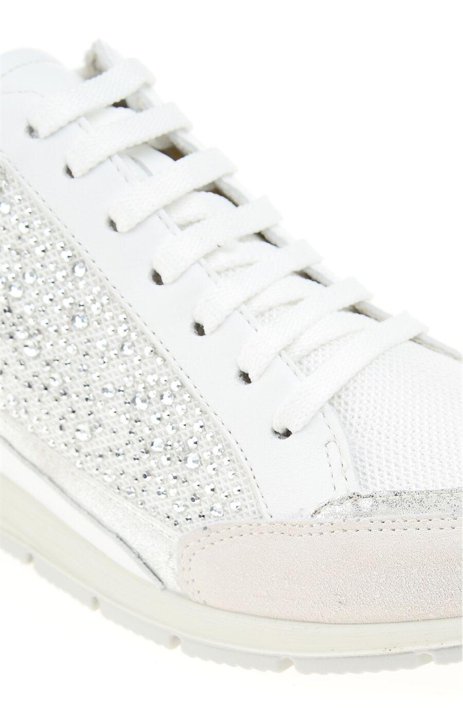 Taşlı Beyaz Sneaker