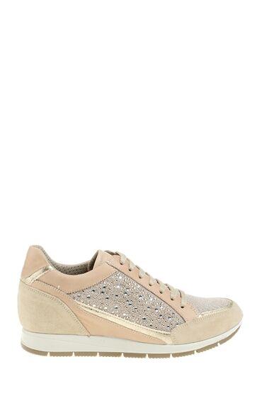 Taşlı Dore Rengi Sneaker