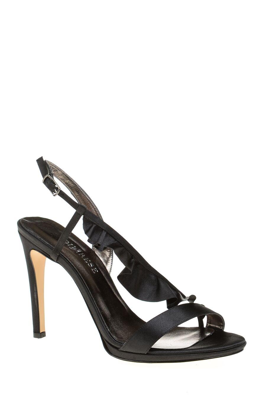 Saten Siyah Sandalet