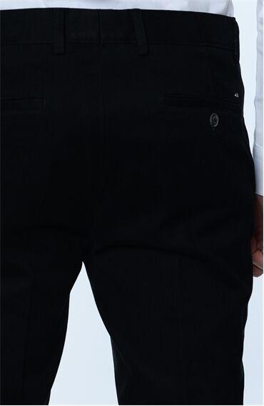 Çizgili Siyah Pantolon
