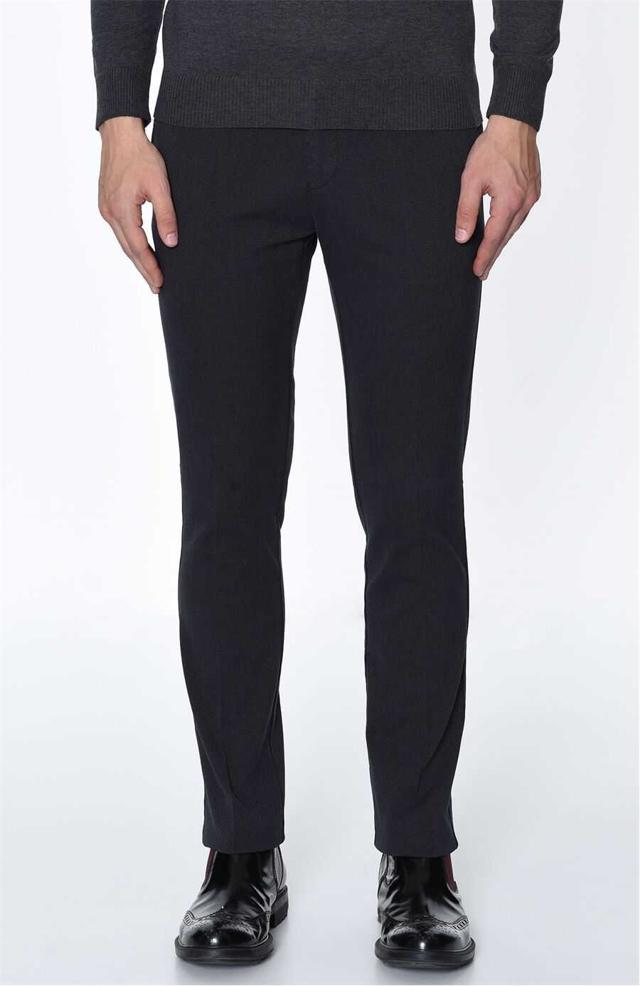 Armürlü Siyah Pantolon