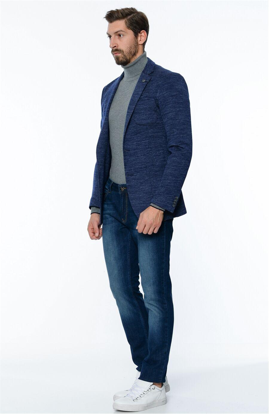 Triko Lacivert Ceket