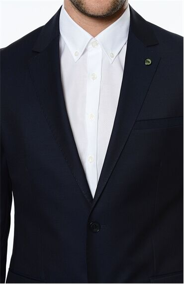 Mikro Rahat Kesim Lacivert Takım Elbise